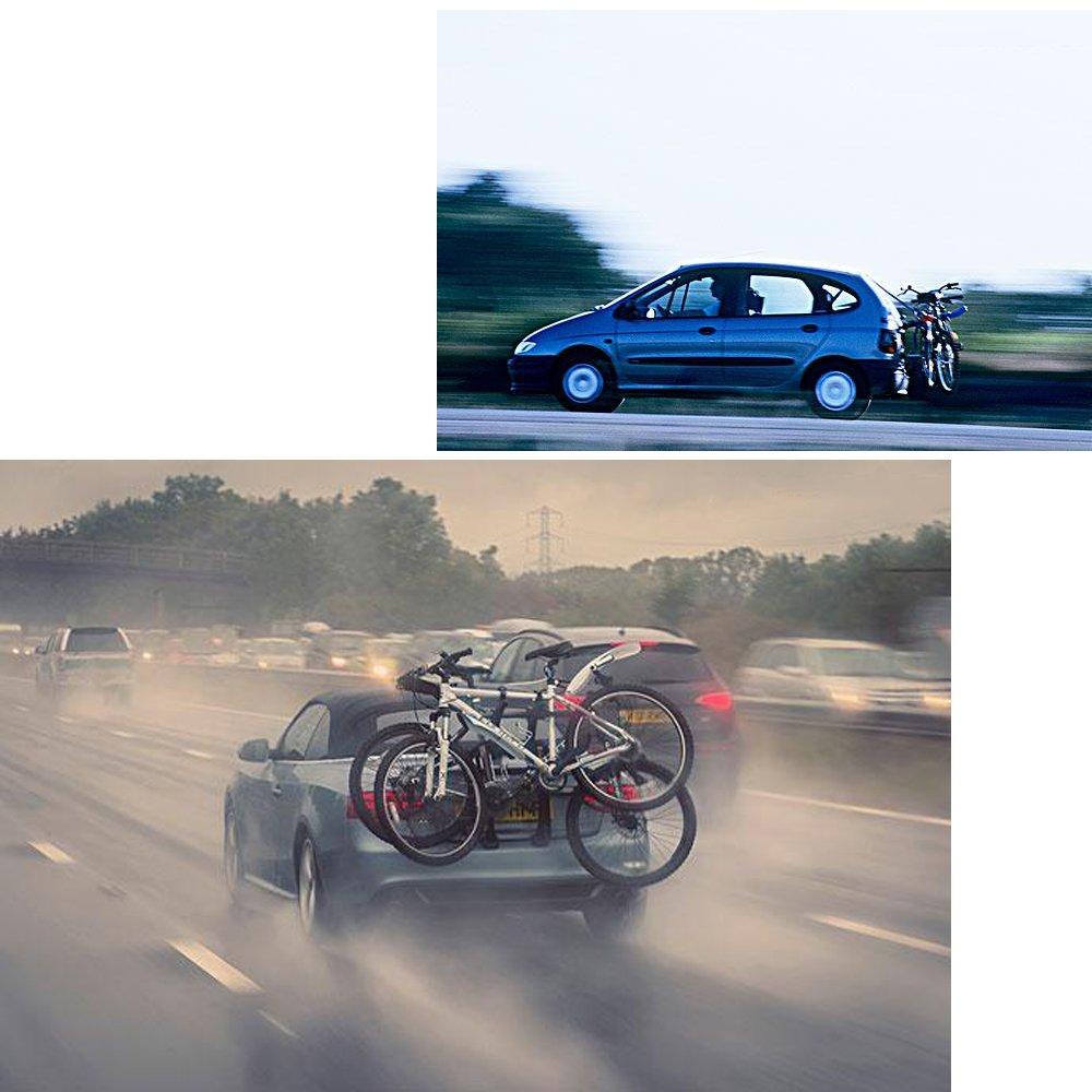 blueshyhall coche soporte de bicicleta de soporte de bicicleta para vehículo SUV tronco de almacenamiento Carrier, Unisex, 3 bikes-Cradle: Amazon.es: ...