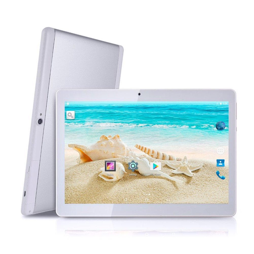 Android Tablet with Dual Sim Card Slots - YELLYOUTH 10 inch Octa Core 4GB RAM 64GB ROM Tablet PC 3G GSM Phone Call GPS WiFi Bluetooth YY-107S - Silver by YELLYOUTH