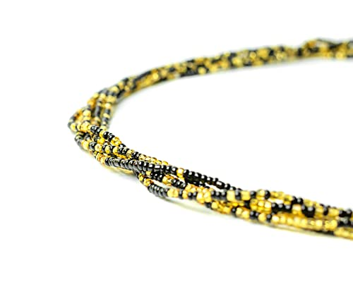 Body Jewelry Weight Loss Tracker Color: GOLDEN Gold Beads African Waist Beads Tie On Waist Beads Belly Beads