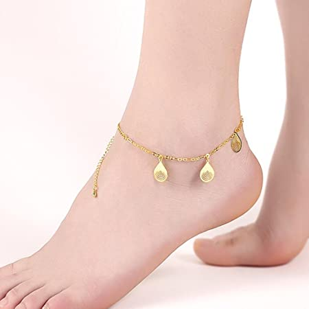 Yesiidor Three-layer Anklet Women Girls Fahion Boho Beach Sandal Barefoot Charm Crystal Bead Ankle Bracelet Foot Jewelry aM9dRhcyjq