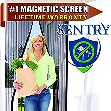 "Magnetic Screen Door - Fits 34""x82"" Doors (36""x83"" Fly Curtain) ★ Full Frame Velcro ★ Premium Quality ★ Lifetime Warranty ★ Tough & Durable ★ Won't Fall Apart Like Magic Mesh Screen Door (Black, 36""x83"")"