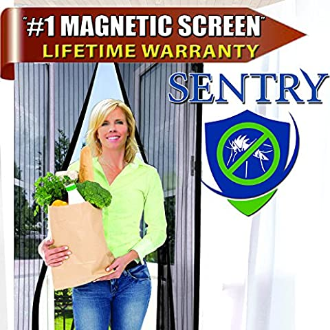 MAGNETIC SCREEN DOOR - Many Sizes and Colors to Fit Your Door Exactly - US Military Approved - Reinforced With Full Frame Hook and Loop Fasteners to Ensure All Bugs Are Kept Out - Tough and (Food Return Policy)