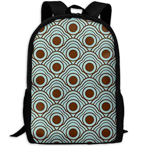 Backpack Japanese Seamless Dot Mens Laptop Backpacks Shoulder Bag School Daypack by LoveBea