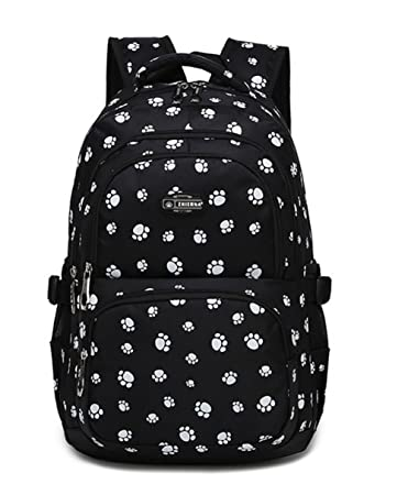 Fanci Lovely Dog Paw Prints Elementary Middle School Backpack Bookbag for Teen  Girls Waterproof High School ff8a837b6c5aa