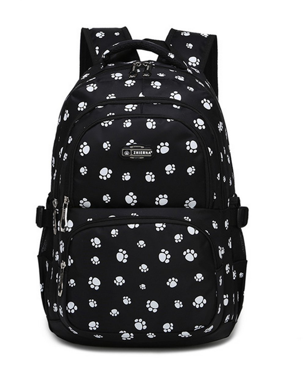 Fanci Lovely Dog Paw Prints Elementary Middle School Backpack Bookbag for Teen Girls Waterproof High School Bag by Fanci (Image #1)