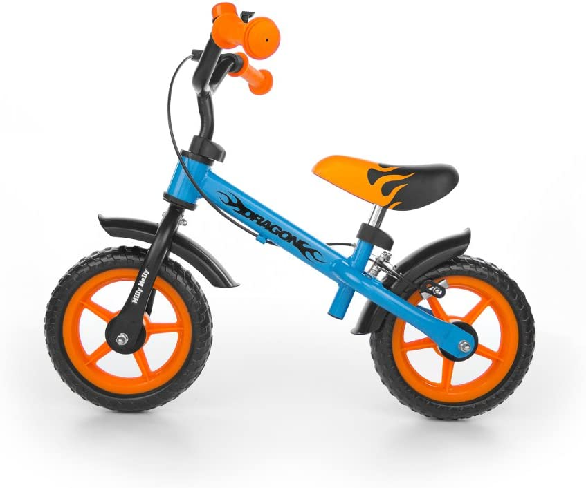 Milly Mally Dragon Z Hamulcem Infantil Unisex Ciudad Acero Negro, Azul, Naranja bicicletta - Bicicleta (Ciudad, Acero, Negro, Azul, Naranja, 25,4 cm (10