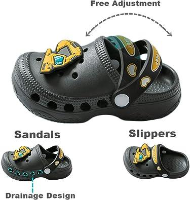 Kids Summer Slipper Galaxy Fire Wolf House Slippers Shower Slide Anti-Slip Beach Pool Bath Sandals for Boys Girls