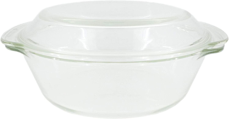 PAMEX - Fuente para Horno y Microondas con Tapa 23ø - Modelo LHP-BO-2L