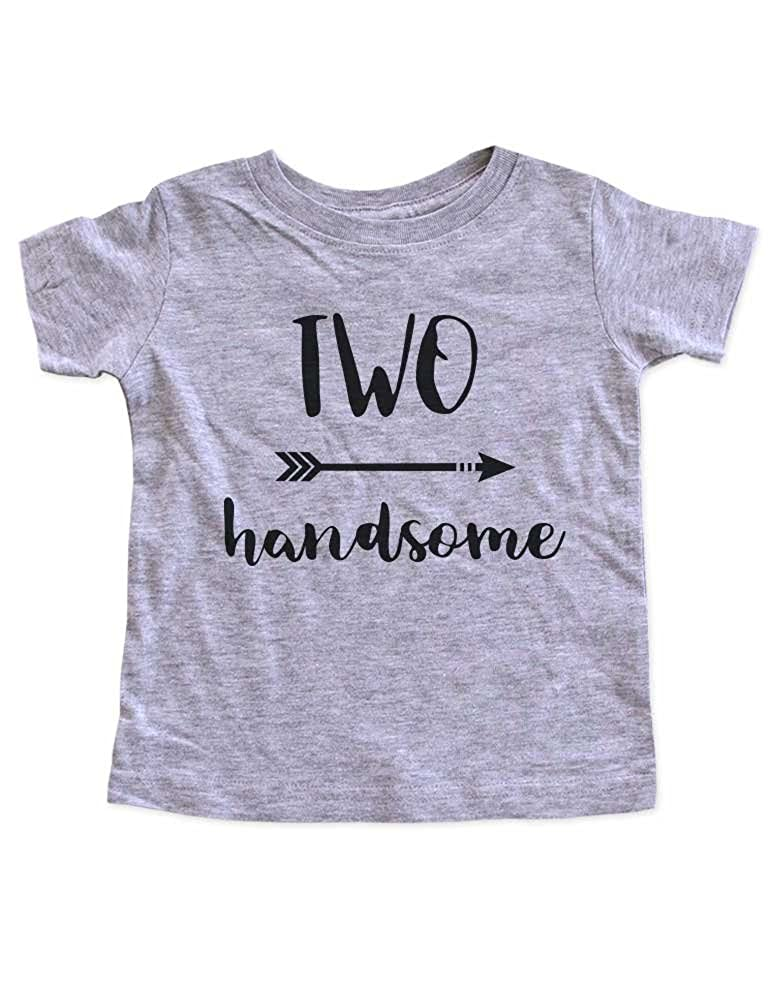 boho hipster arrow Second Birthday Party Toddler Shirt HH TWO handsome