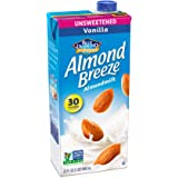 Almond Breeze Almondmilk, Unsweetened Vanilla, 32 Ounce (Pack of 12)
