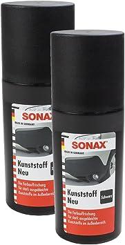 Sonax 2x 04091000 Kunststoff Neu Schwarz Kunststoffpflege 100ml Auto