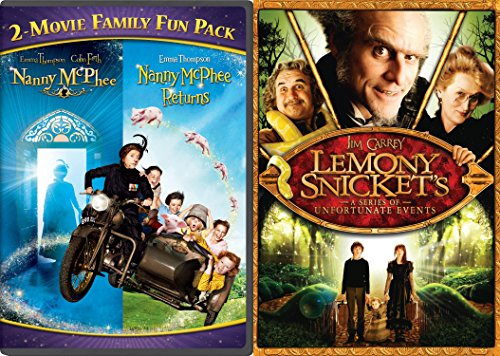 Nanny McPhee 2-Movie Family Fun Pack + Lemony Snicket's A Series Of Unfortunate Events 2 DVD Nanny Mcphee Returns Part 2 Fantasy Set Family Movies