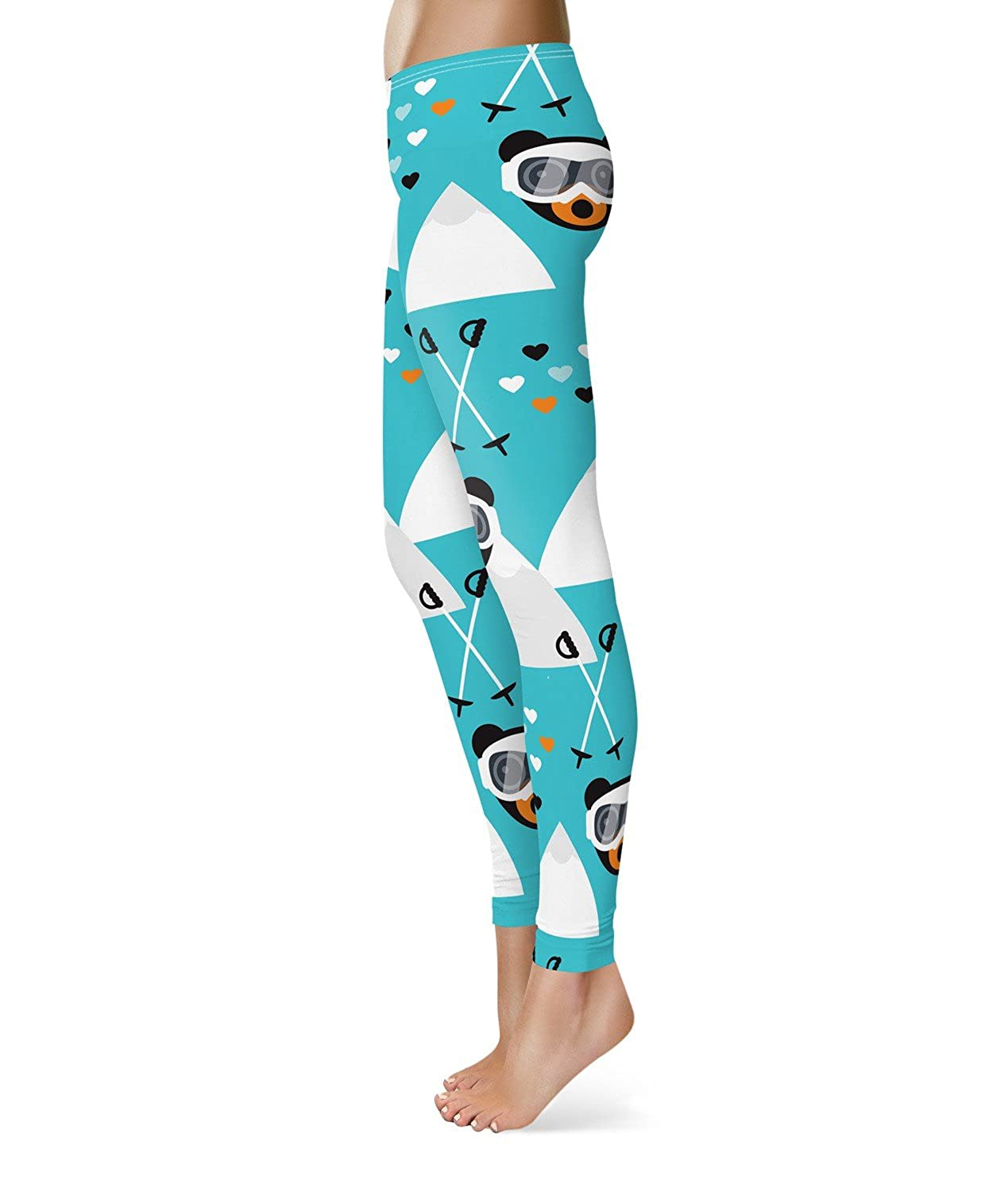 Ski Fun Bears Fleece Leggings XS-3XL