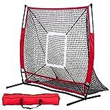 DAILY FITNESS 5×5 Portable Baseball And Softball Practice Net ,Pitch Net, Hitting Net