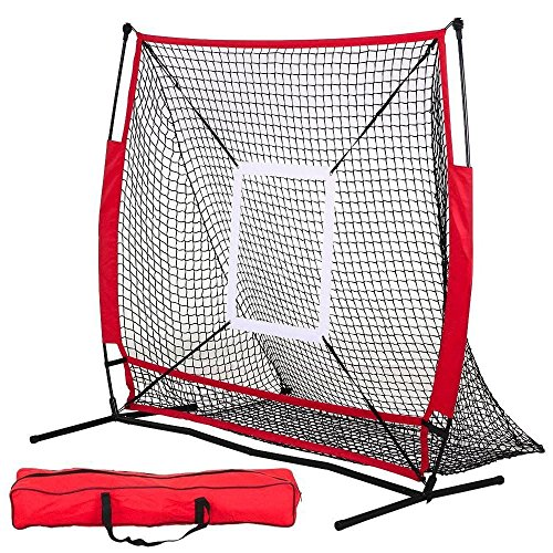 DAILY FITNESS 5×5 Portable Baseball And Softball Practice Net ,Pitch Net, Hitting Net by DAILY FITNESS