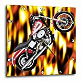 3dRose dpp_3175_1 Picturing Harley-Davidson and No.174 Motorcycle Wall Clock, 10 by 10-Inch For Sale