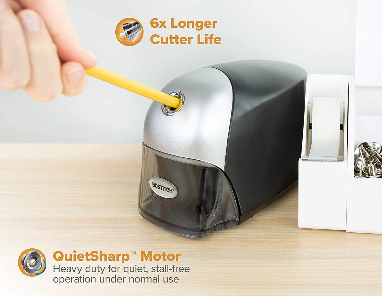 1 Pack Bostitch QuietSharp Executive Electric Pencil Sharpener EPS8HD-BLK Black