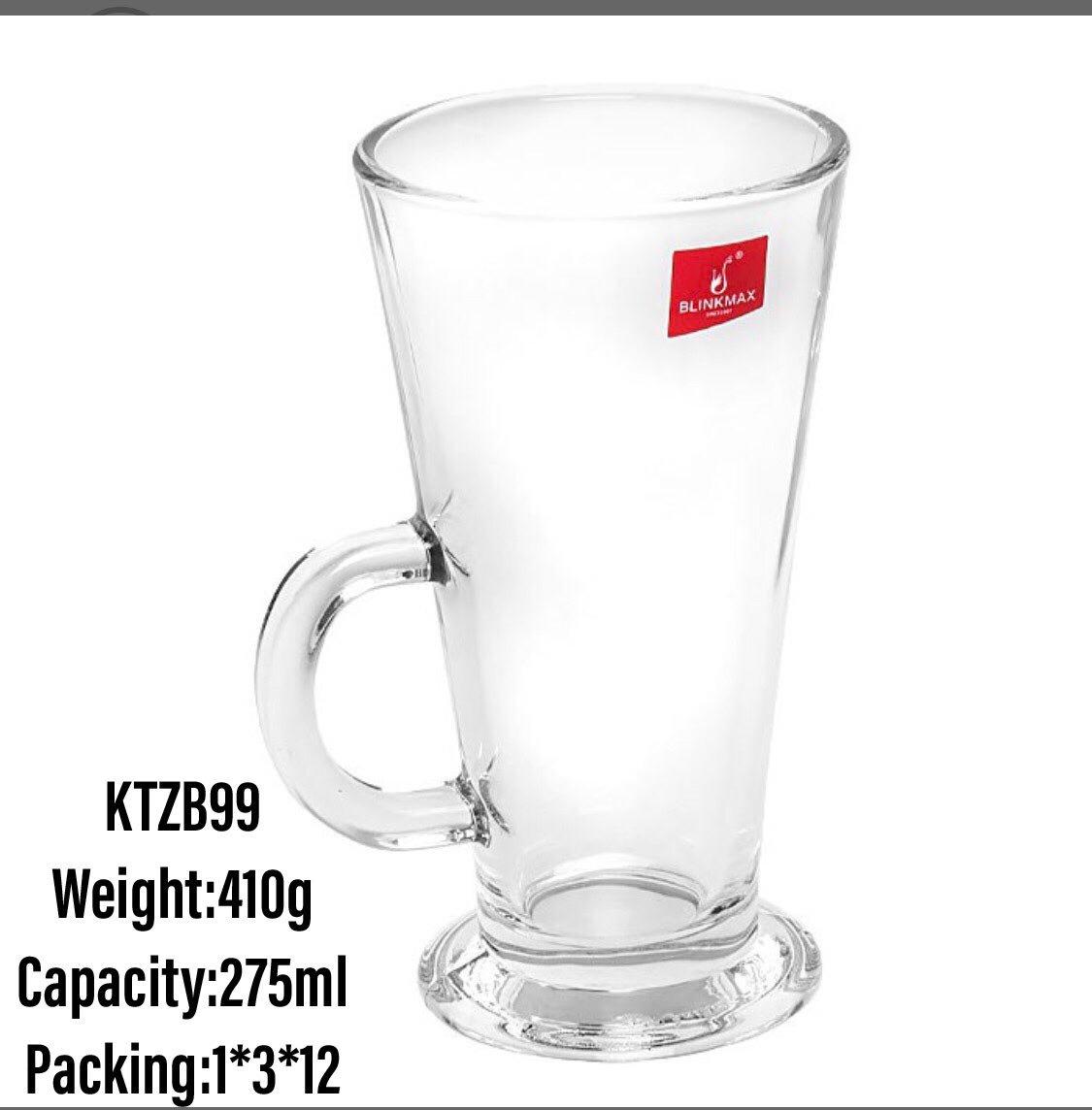 BlinkMax 9.3 ounce (275 ml) Irish Coffee Mug, 6-Piece Set