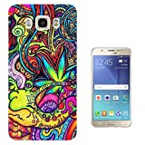 C0840 - Cool Fun Colourful Hippie Art Flowers Snake Design Samsung Galaxy J7 (2016) J710FN Fashion Trend CASE Gel Rubber Silicone All Edges Protection Case Cover
