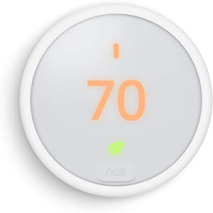 Google, T4000ES, Nest Thermostat E, Smart Thermostat, White