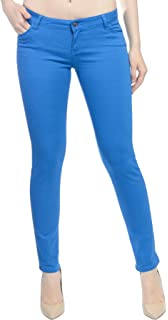 9e45397ab48 Hey Collection Juniors Brushed Stretch Twill Low Rise Pants Skinny Jeans  For Women