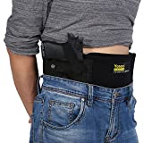 Yosoo Belly Band Holster Concealed Carry Adjustable Hand Gun IWB Holsters with Magazine Pouch for Men Women, Fits Glock 19 43 42 17, M&P Shield, S&W, Ruger lcp, Bodyguard 380, 9mm Revolvers