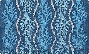 Toland Home Garden 800300 Aqua Coral-Decorative Blue Reef Tropical Pattern Indoor Standard Mat