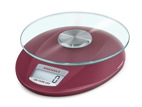 SOEHNLE 7083-Bascula Digital de Cocina Roma, Capacidad de Carga 5 kg, Color