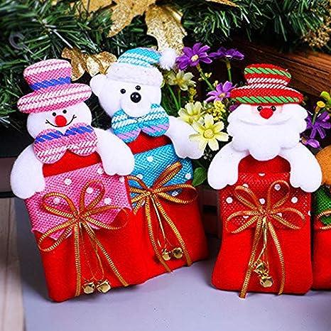 jingyuu 1 Pieza plástico Navidad Chucherías Funda para Navidad Regalo Navideño Joyas geschenksack Árbol de Navidad Colgante 10 * 20 * 8 cm: Amazon.es: ...