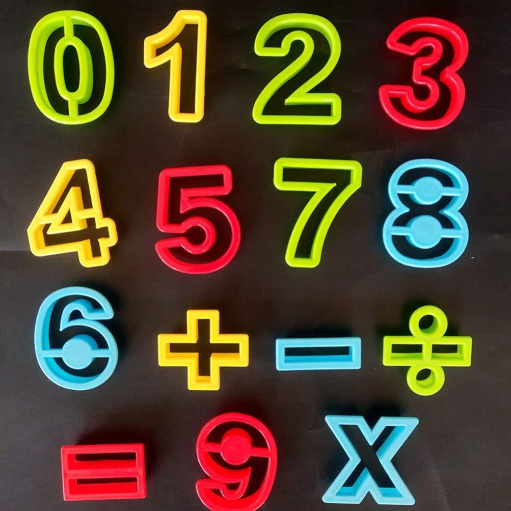 NUOBESTY Kids DIY Clay Mold Set Color Clay Tool Mold Plasticine Alphanumeric Mold Kit Number Alphabet Mold Kit
