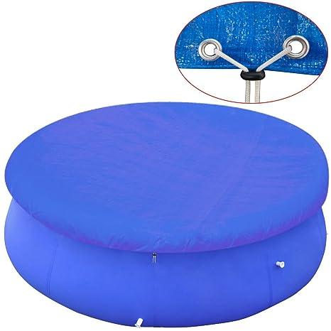 vidaXL Cubierta Toldo Piscina Redonda Polietileno Azul 300-367 Protección SPA