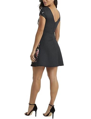 Lipsy Mujer Vestido Evasé Con Estampado De Textura: Amazon.es: Ropa y accesorios