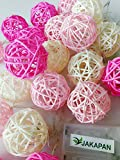 Handmade 20 Pink & White Rattan Ball String Review and Comparison