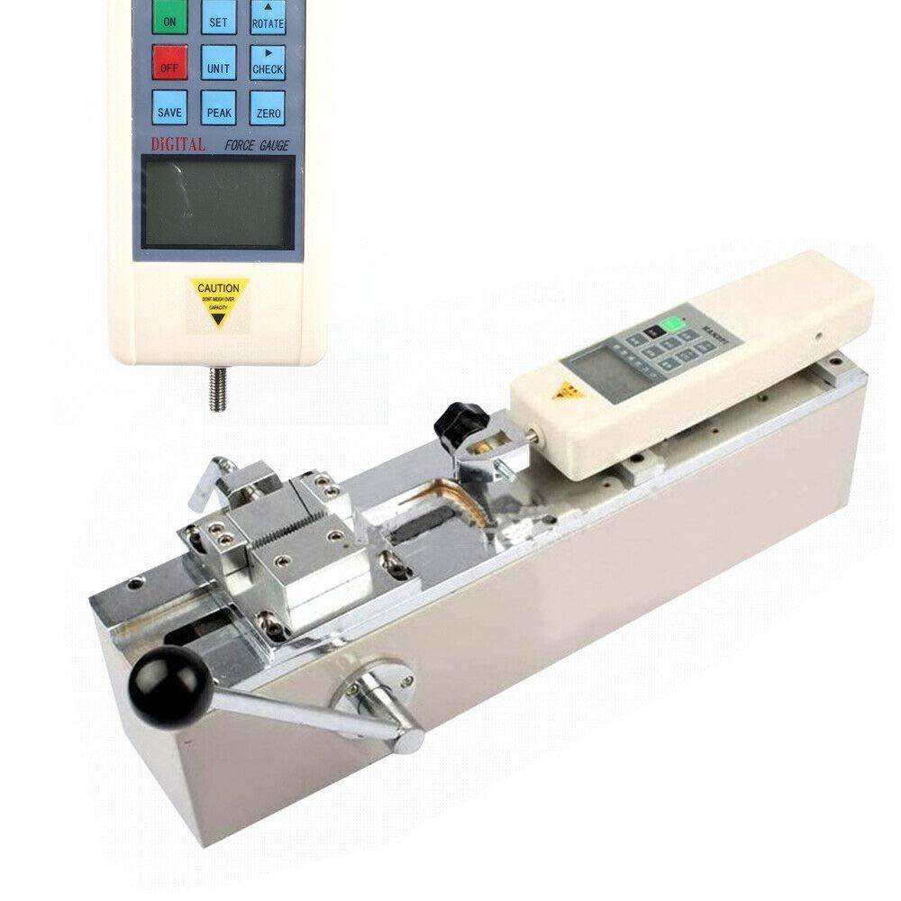 LianDu Manual Horizontal 500N HPH Pull Force Tester Tensile Push-Pull Meter Digital Force Gauge Tester Force Testing Equipment with Bracket Fixture (US Stock)