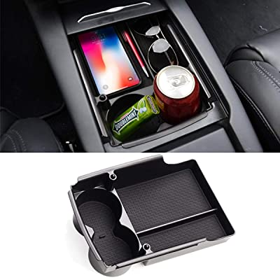 Jaronx for Tesla Model S/Model X Center Console Organizer, Armrest Storage Box+Cup Holder,for Tesla Model X/S Accessories (Fit: Tesla Model S/Model X 2016 2020 2020 2020 2020): Automotive