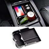Jaronx for Tesla Model S/Model X Center Console Organizer, Armrest Storage Box+Cup Holder,for Tesla Model X/S…