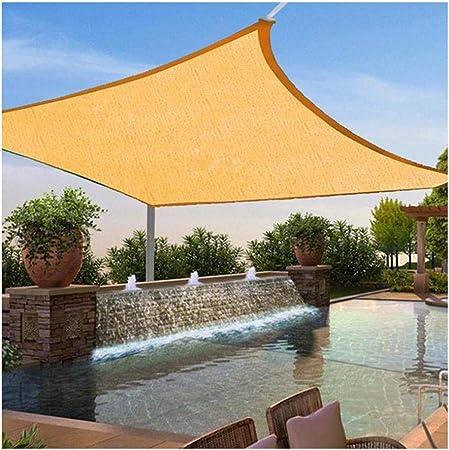 SUNDUXY Toldo Vela de Sombra Rectangular Toldos para Patio, Resistente Intemperie protección Rayos UV Impermeable para Patio, Exteriores, Jardín,7x7: Amazon.es: Hogar