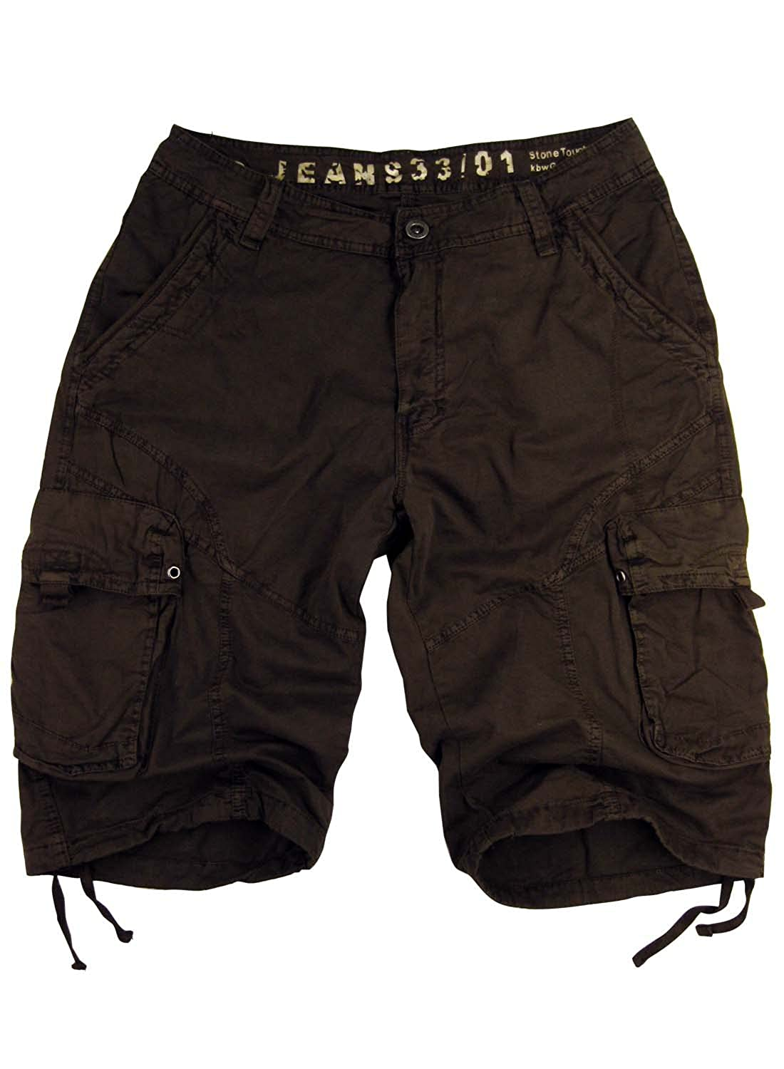 STONE TOUCH Mens Military-Style Cargo Shorts #27s 27Ss