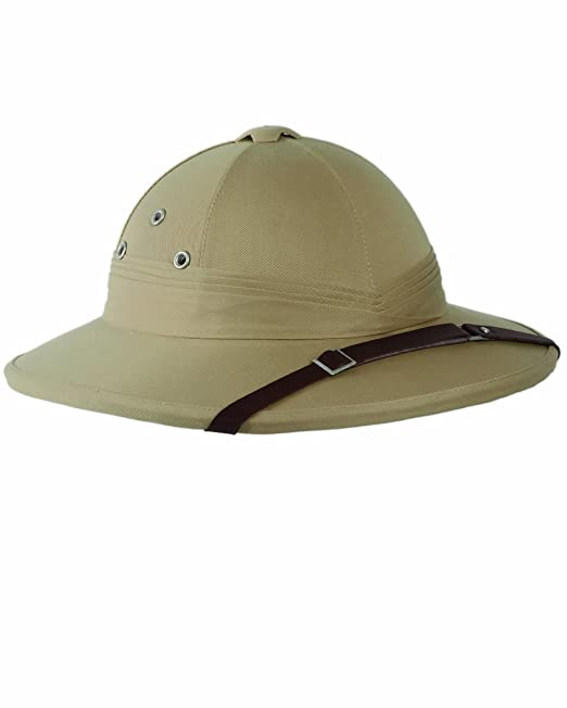 Edwardian Hats, Titanic Hats, Tea Party Hats Tropical Pith Helmet in British Khaki $32.95 AT vintagedancer.com