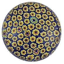Art Glass Paperweight Handmade Millefiori Style