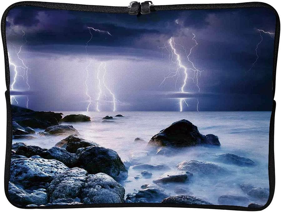 C COABALLA Lake House Decor,Summer Storm Flashes Over Laptop Sleeve Case Water-Resistant Protective Cover Portable Computer Carrying Bag Pouch for Laptop AM019814 15 inch//15.6 inch