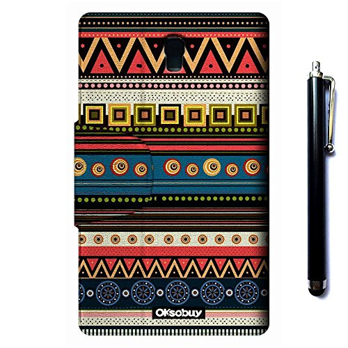 Galaxy Tab S 8.4 SM-T700 Case, OkSoBuy(R) Stand Case Premium Oracle bone script Leather Case Smart Cover with Card Slots For Samsung Galaxy Tab S 8.4 SM-T700(aztec tribal Ethnic style) by OkSoBuy