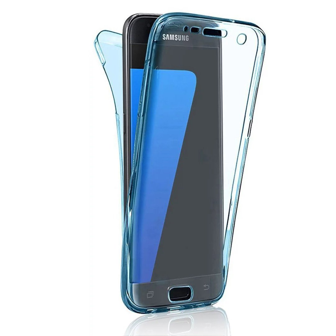 Samsung Galaxy Grand Neo Plus Carcasa Sunroyal Funda Full Body Case Cover Completo Sleeve (Frontal y Trasero) TPU Doble Transparente [Anti-Gota] Suave ...