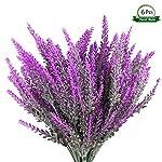 Wansong-6Pcs-Artificial-Lavender-Plastic-Flowers-Plants-Faux-Simulation-Wedding-Indoor-Outdoor-Bridal-Bouquet-Home-Garden-Office-Kitchen-Bathroom-Balcony-Wedding-Arrangement-Decoration-Rose-Red