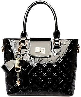 99602c11981ba Oruil Mode-Handtasche mit Blumen-Design Handtasche Charme und  Metall-Verschluss PU-