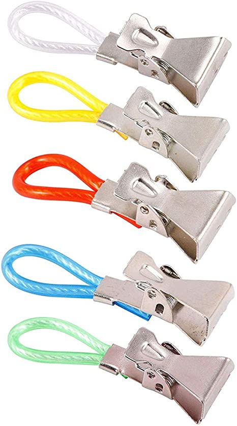 5 Kitchen Hand Towel Holder Hangers Tea Towel Hanging Clips Clip-on Hooks Loops