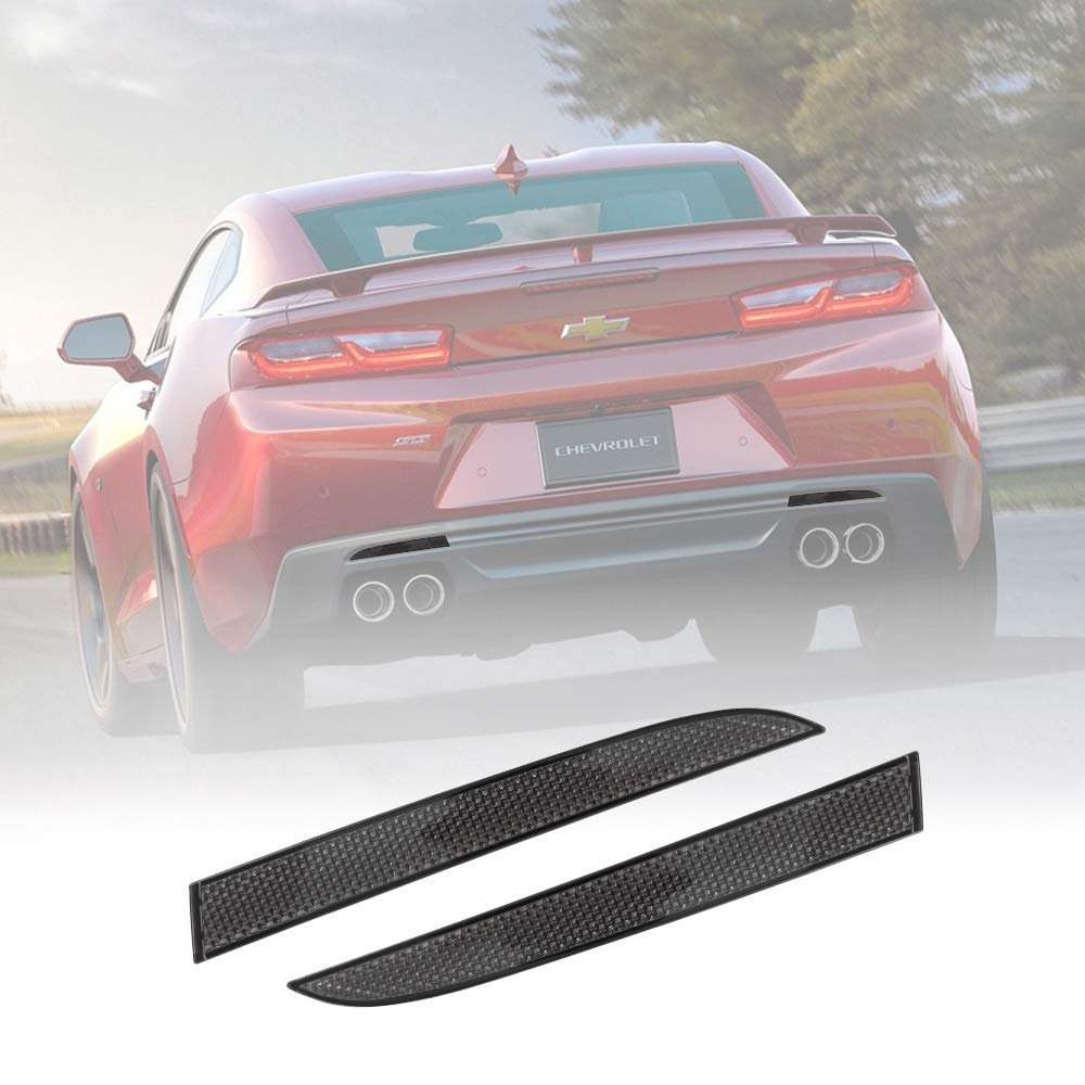 BUNKER INDUST 2 Pcs Somked Rear Left and Right Side Bumper Reflector for Chevrolet Camro Coupe 2016/Traverse 2013-2017/Cadillac ATS Sedan 2013-2017/Coupe 2015-2017/XT5 2017 Pontiac G8 by BUNKER INDUST