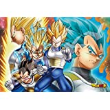 Ensky 300-AC029 Dragon Ball Super Vegeta All Forms Art Crystal Jigsaw Puzzle (300-Piece)