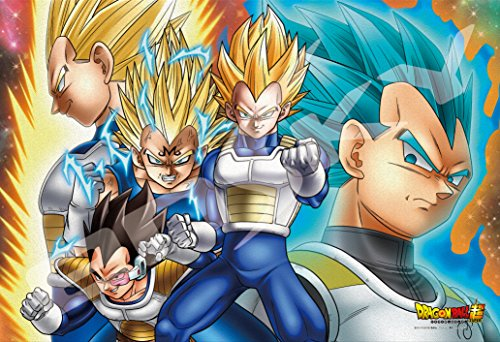 ensky 300-AC029 Dragon Ball Super Vegeta All Forms Art Crystal Jigsaw Puzzle (300 Piece)