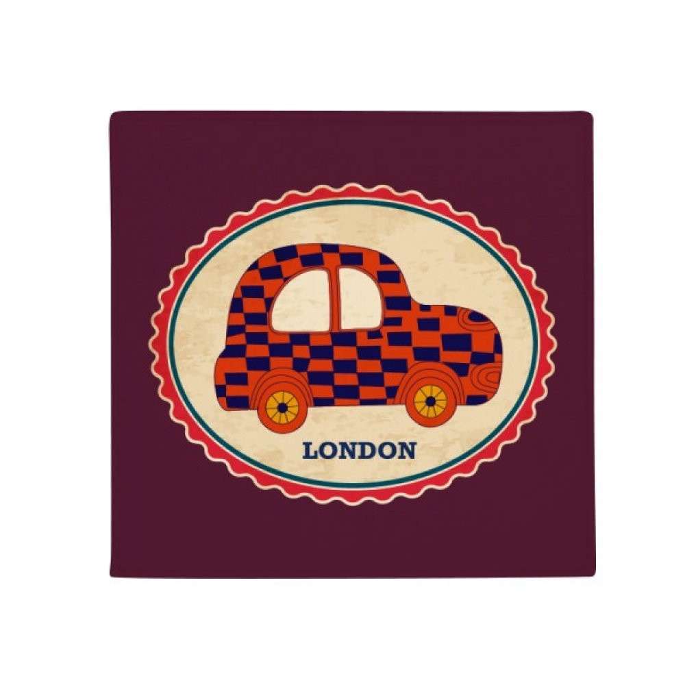 DIYthinker Little Car UK London Stamp Britian Anti-Slip Floor Pet Mat Square Home Kitchen Door 80Cm Gift